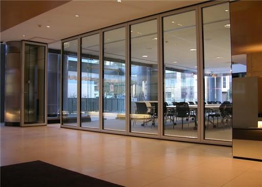 65型带边框玻璃隔断屏风